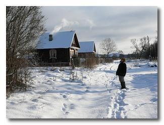 Посёлок зимой