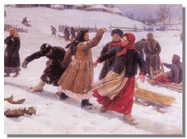 Зимние забавы на Руси. Праздник Веденьё