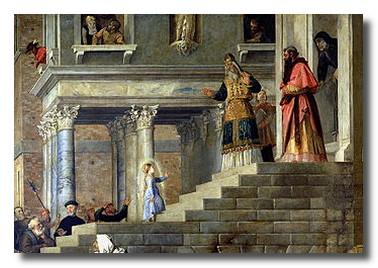 Праздник Введение.Маленькая отроковица  Мария поднимается в храм