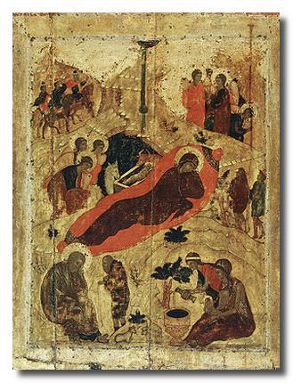 Икона Рождество Христово. А.Рубл