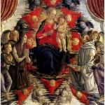 БОТТИЧИНИ ФРАНЧЕСКО Мадонна с младенцем в Славе со св. Марией Магдалиной, св. Бернардом и ангелами.15в.