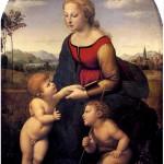 Рафаэль. Прекрасная садовница (Мадонна с Младенцем и Иоанном Крестителем)