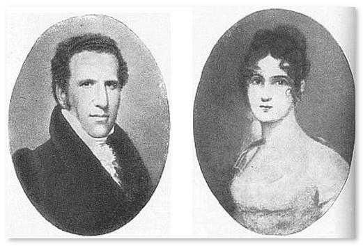 Джон и Фрэнсис Алланы - приёмные родители Эдгара По
