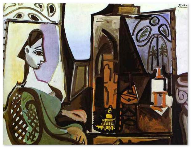 Жаклин в студии 1956