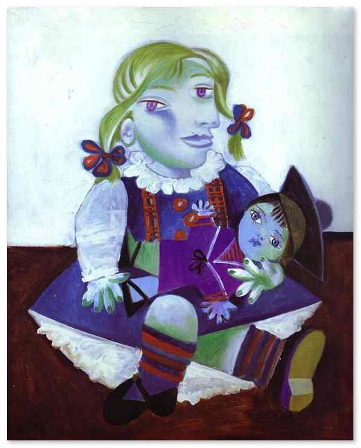 Майя с куклой. 1938