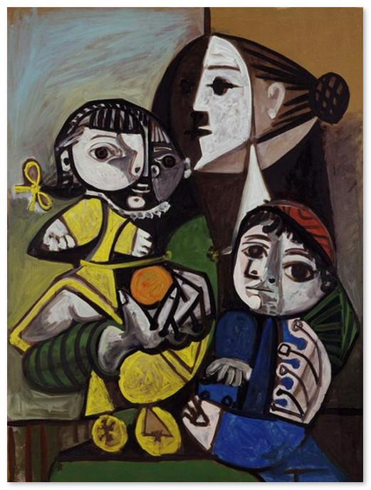 Мать и дитя с апельсином 1951