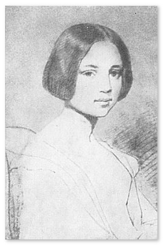 Первая любовь - Сара Эльмира Ройстер. Карандашный портрет, сделанный Эдгаром По.