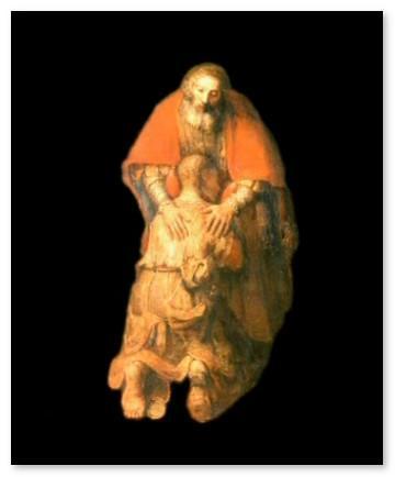 Рембрандт.Возвращение блудного сына (фрагмент)
