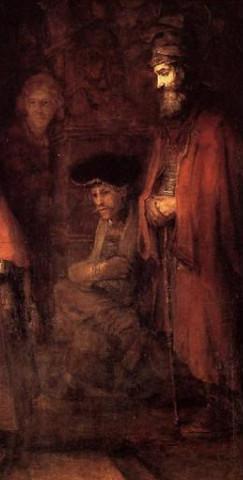 Рембрандт.Возвращение блудного сына (фрагмент2)