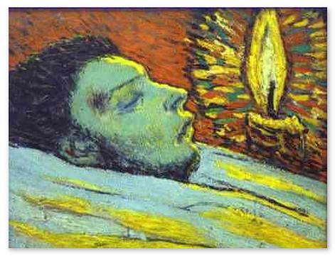 Смерть Касахемоса. 1901 г -muzej-pikasso