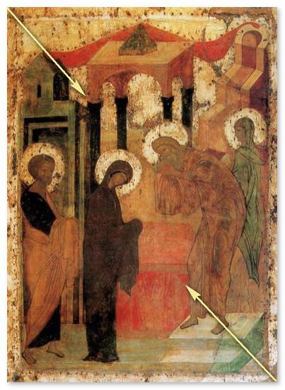 Икона Сретение Господне - цветовая гамма