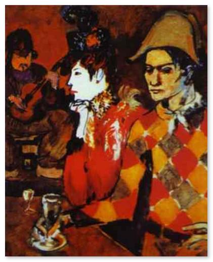 muzej-pikasso-Арлекин с бокалом. 1905