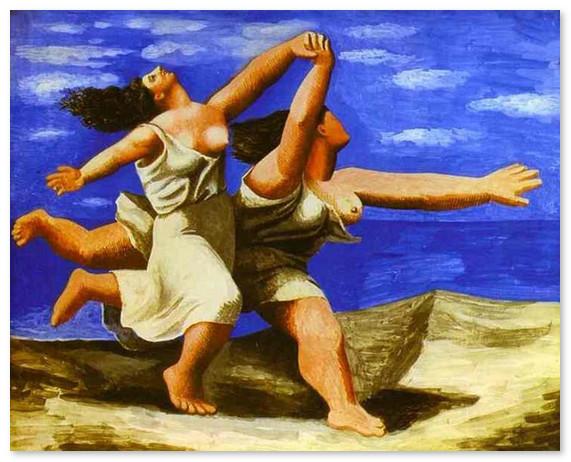 muzej-pikasso-Женщины, бегущие по пляжу. 1922 г.