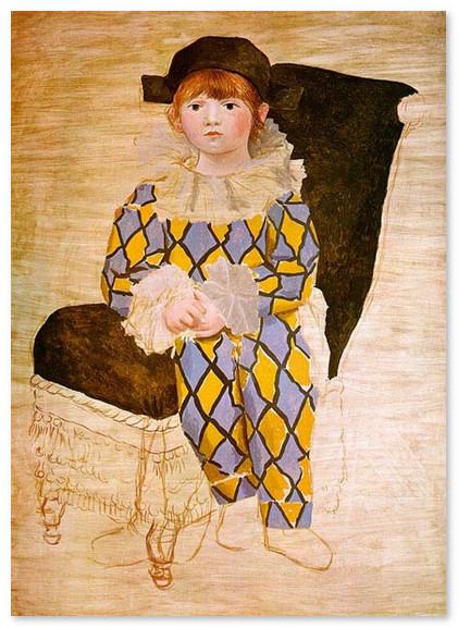muzej-pikasso-Поль в костюме Арлекино. 1924