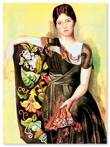 muzej-pikasso-Портрет Ольги в кресле. 1917