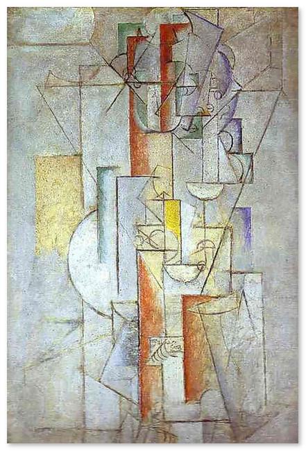 muzej-pikasso-Скрипка. Я люблю Еву. 1912