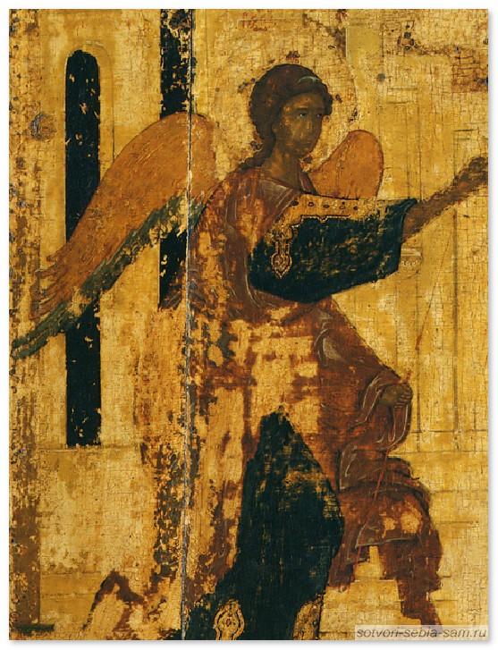 фрагмент иконы Благовещения