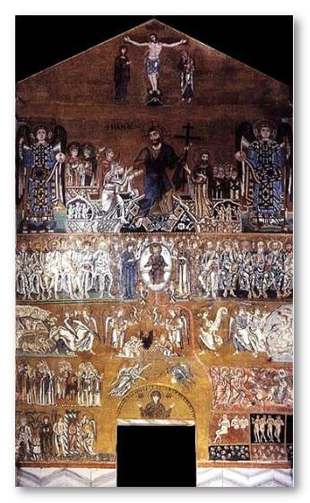 Византийская мозаика. Страшный суд